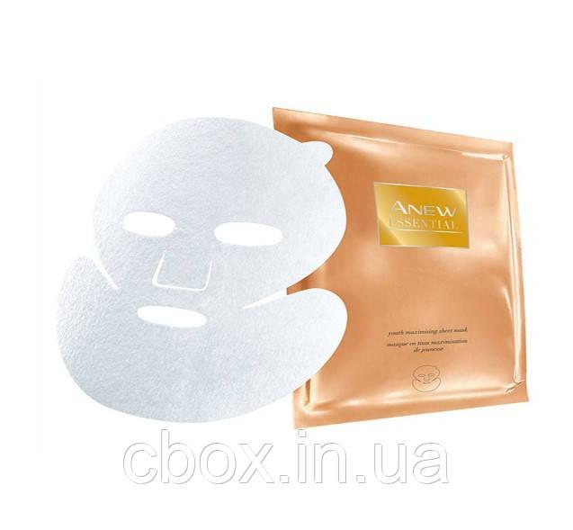 "Тканевая маска для лица ""Максимальная молодость"" Avon Anew Essential, Эйвон, 36439"