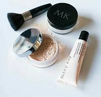 Подарочный набор (минеральная раасыпная пудра iv 2, прозрачная пудра, кисть, основа под макияж) мэри кей, фото 1