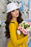 Шляпа-федора «Элисса» (белый)