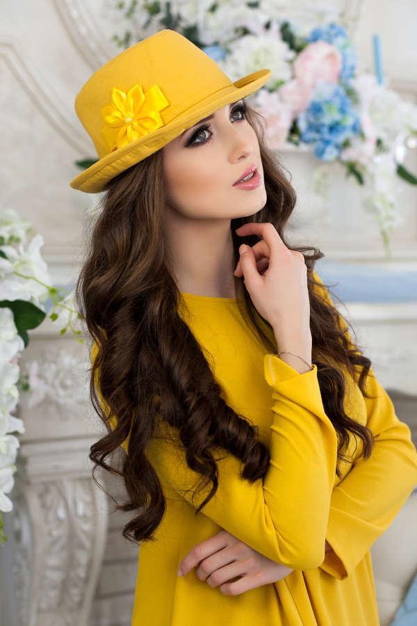 Шляпа-федора «Элисса» (желтый)