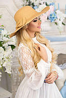 Соломенная шляпа «Алекса» (темно-бежевый) Braxton