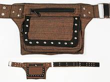 Сумка карман на пояс Walkman коричневая распродажа