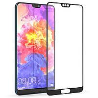 3D Full Glue защитное стекло для Huawei P20 Pro Черное (клеится вся поверхность)