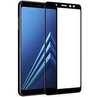 3D Full Glue защитное стекло для Samsung A530 Galaxy A8 2018 Чёрное (клеится вся поверхность)