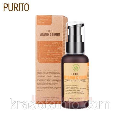 Purito Pure Vitamin C Serum Cерум с витамином С и гиалуроновой кислотой 60 мл