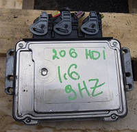 Блок управления двигателем Peugeot 206  1998-20121.6hdi 0281011560