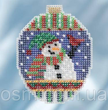 Набор для вышивки бисером Snowman Greetings Mill Hill