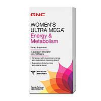 Витамины GNC Women's Ultra Mega Energy and Metabolism, 90  tabl
