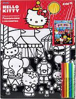 Раскраска с бархатом A3 +5 фломастеров KITE 2014 Hello Kitty 156 (HK14-156K)