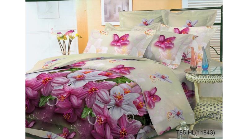 Комплект подарочный Постельное белье полуторкас 3D эффектом лилия красивый  - Интернет-магазин постельного белья