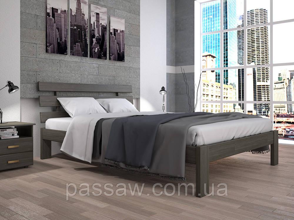 Кровать ТИС ДОМІНО 1 90*190 сосна
