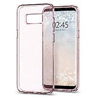 Чехол Spigen для Samsung S8 Liquid Crystal Glitter, Rose Quartz, фото 1