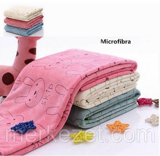 """Полотенце махровое для бани. Полотенце """"Зайка Skip"""". Банные полотенца микрофибра для рук и ног"""