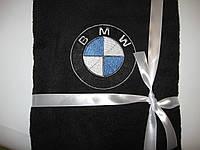 Полотенце махровое,банное 70x140с вышивкой логотип BMW. Вышивка эмблемы Вашего автомобиля.