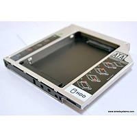 "Адаптер для подключения HDD 2.5"" в отсек привода ноутбука SATA/mSATA Grand-X Slim 9.5мм (HDC-24N) Black"