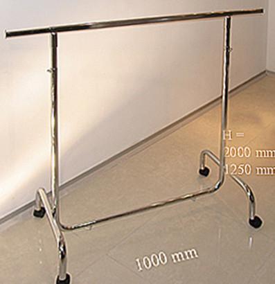 Вішалка одинарна для одягу з регулюванням висоти шириною 1000мм