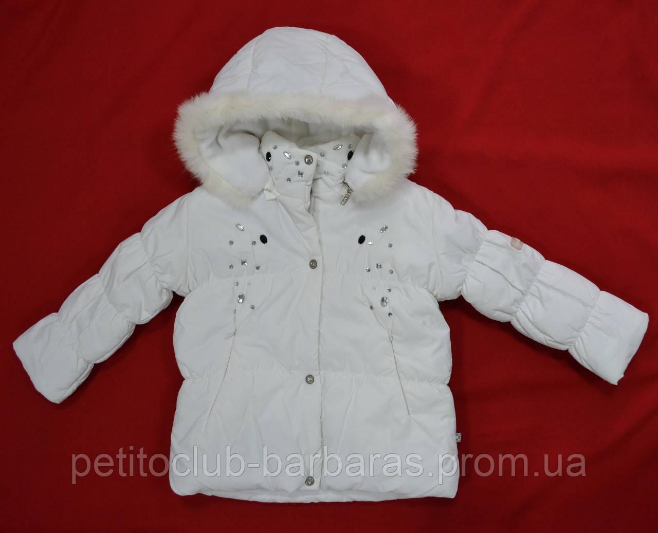 Куртка зимняя для девочки белая (QuadriFoglio, Польша)