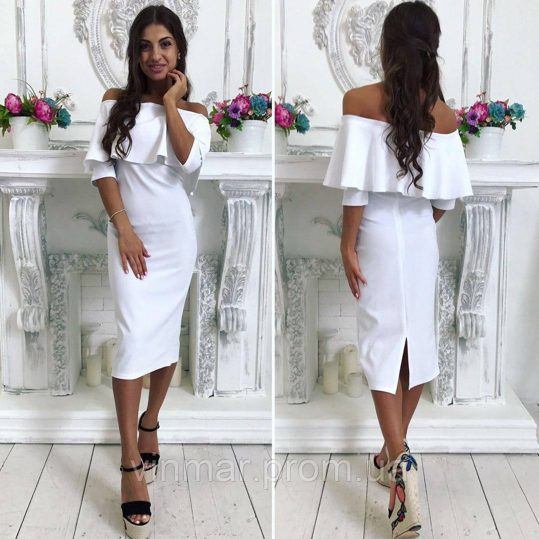 Женское платье с воланом