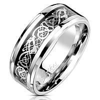 Мужское кольцо «Кельтский дракон» Spikes R-M6771, р. 19, 20, 20.5, 21.5, 22.5, фото 1