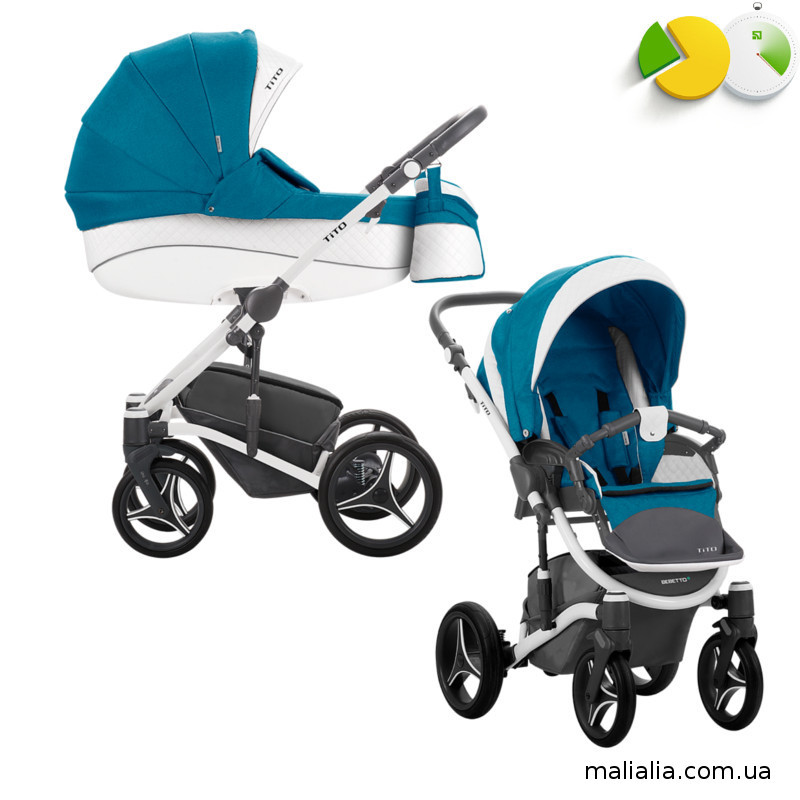 Детская коляска 2 в 1 Bebetto TITO  Синий CH01, Bebetto