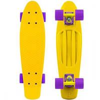 Скейтборд/скейт Penny Board желтый (Пенни борд): 6 цветов (лонгборд)