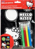 Раскраска с бархатом В6 +4 фломастера KITE 2014 Hello Kitty 157