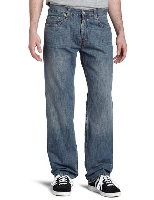 Мужские джинсы LEVIS 559  medium chipped