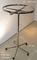 Вішалка для одягу округлена діаметром 800мм з регулюванням висоти, фото 1