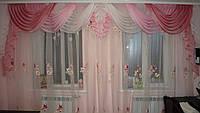 Ламбрекен №38 розово- фрезовый