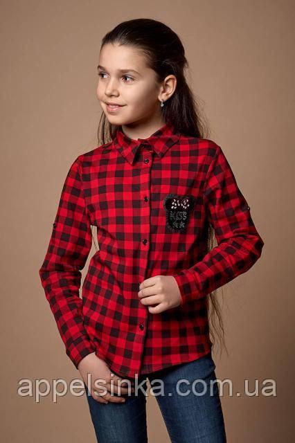 87b39c6341f4fe7 Стильная рубашка в клетку для девочек 128рост: продажа, цена в ...