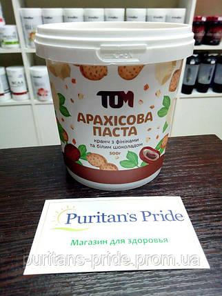 Арахисовая паста ТОМ 500 грамм с финиками и белым шоколадом , фото 2