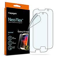 Защитная пленка Spigen для Samsung S7 Edge Neo Flex + поклейка в подарок