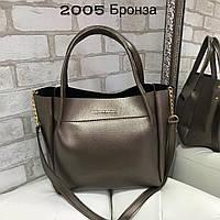 245be5acfea4 Вместительная женская сумка Michael Kors Майкл Корс по доступной цене цвет  бронза