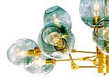 Люстра молекула лофт золото MD6136/8+4 GD, фото 3
