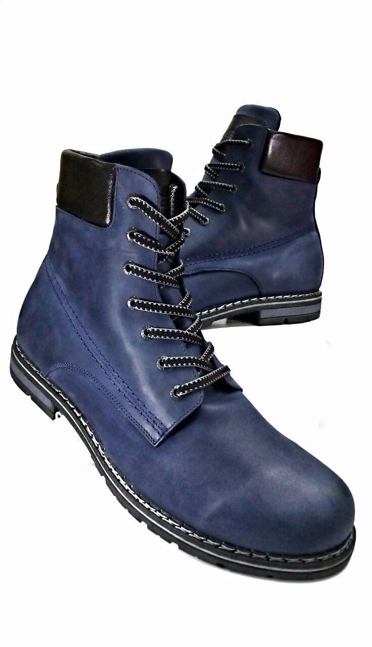 Зимние мужские ботинки больших размеров  из натуральной кожи Berg 599