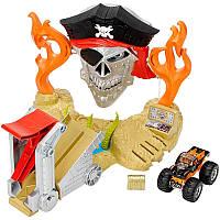 Hot Wheels Трек Тэйкдаун пирата с машинкой монстр джам Monster Jam Pirate Takedown Play Set