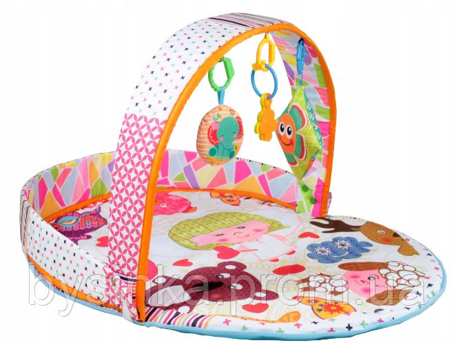 Детский развивающий коврик 2в1 + цветные шарики 023-51