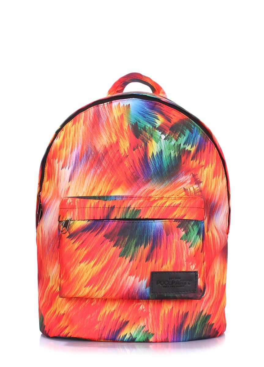 Рюкзак POOLPARTY cс цветным принтом