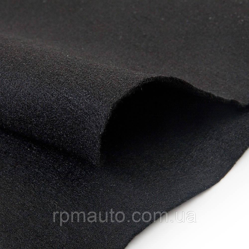 Карпет для Авто Шумофф Чорний 1,4 м Ковролін Автоковролин Тканина для Обшивки Стелі Салону Автомобіля