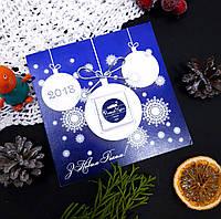 Открытка новогодняя с шоколадом и логотипом 018