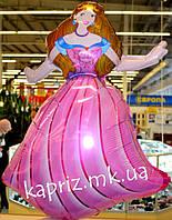 Шар фигура Принцесса Золушка  надутый гелием