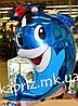Шар фигура Дельфин в шляпе надутый гелием