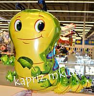 Шар фигура Милая гусеница, наполненный гелием