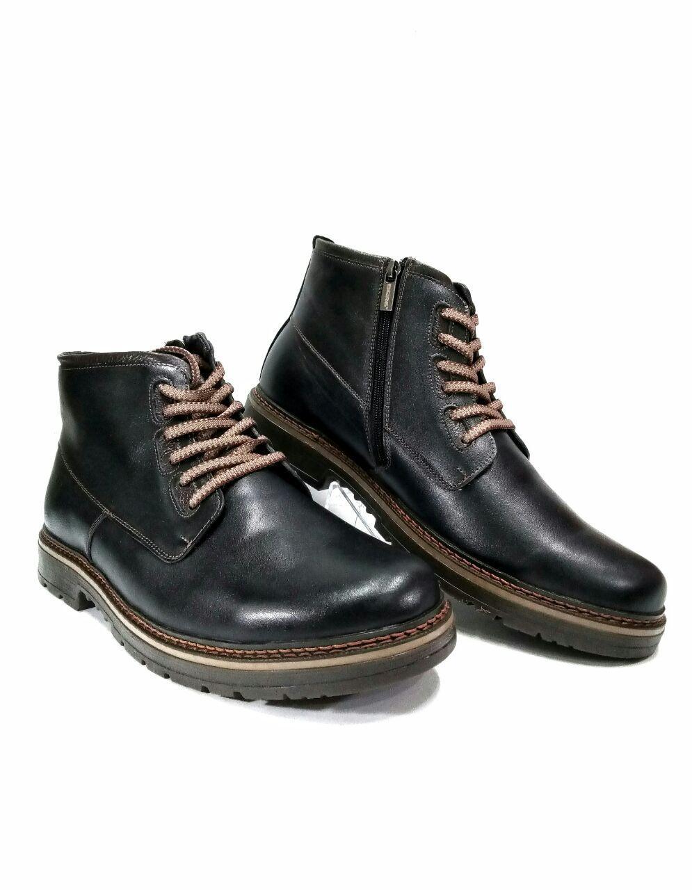 a4f55d735d9c Зимние мужские ботинки больших размеров из натуральной кожи Berg 594