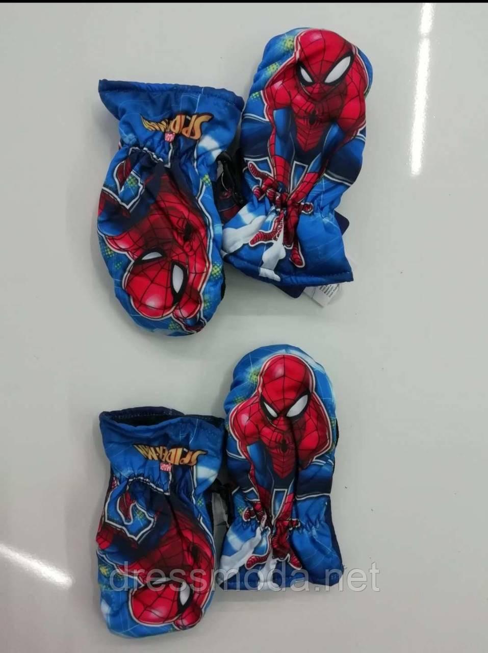Варежки для мальчиков Spider-man 3/4 - 5/6 лет