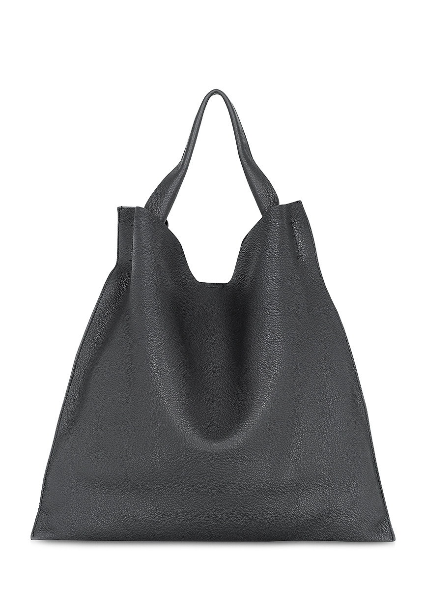 Бежевая кожаная сумка Bohemia