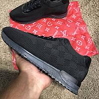 Кроссовки Louis Vuitton Run Away Sneakers Black, фото 1