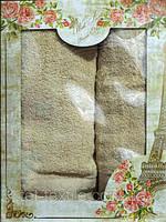 Рушник махровий для обличчя та рук + банний (в коробці)