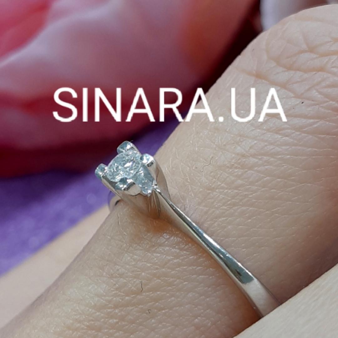 Кольцо из белого золота с бриллиантом 16р.