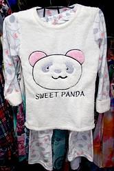 Пижама теплая Турция флис и мех размер S,L,XL отличное качество